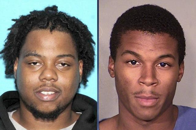 Ray Brown, 22, left, and Lee Dominic Sykes, 20 (Las Vegas Metropolitan Police Department)