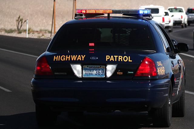 A Nevada Highway Patrol car. (Justin Yurkanin/Las Vegas Review-Journal)