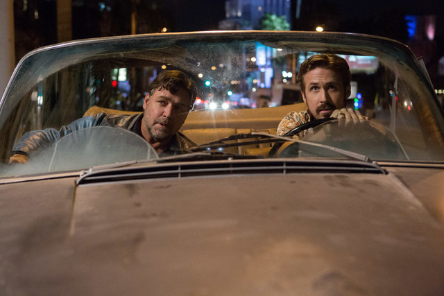 "Photo Credit: Daniel McFadden  Caption: (L-r) RUSSELL CROWE as Jackson Healy and RYAN GOSLING as Holland March in Warner Bros. Pictures' action comedy ""THE NICE GUYS,"" a Silver Pictures production ..."