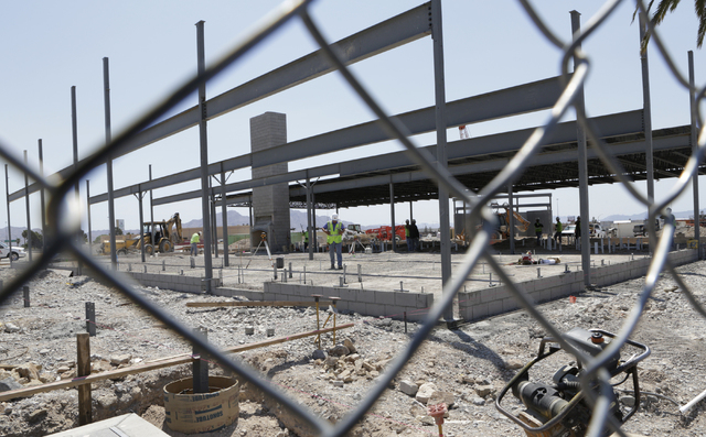 The Cracker Barrel Old Country Store construction site at 2815 E. Craig Road is shown on Monday, May 23, 2016, in North Las Vegas. Bizuayehu Tesfaye/Las Vegas Review-Journal Follow @bizutesfaye