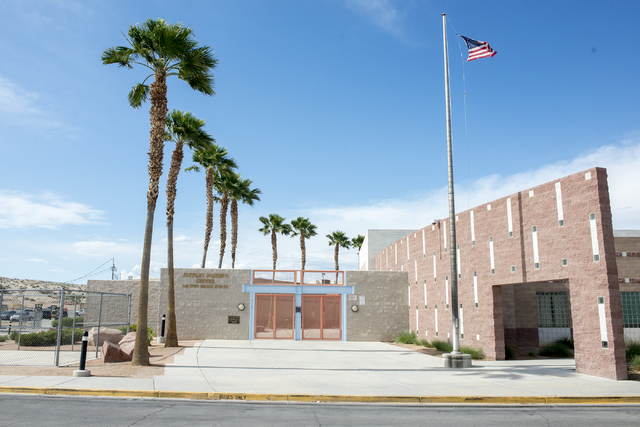Jeffrey Behavior School in North Las Vegas is pictured May 17, 2016. A Clark County School District police officer was indicted by a federal grand jury on charges of using excessive force against  ...