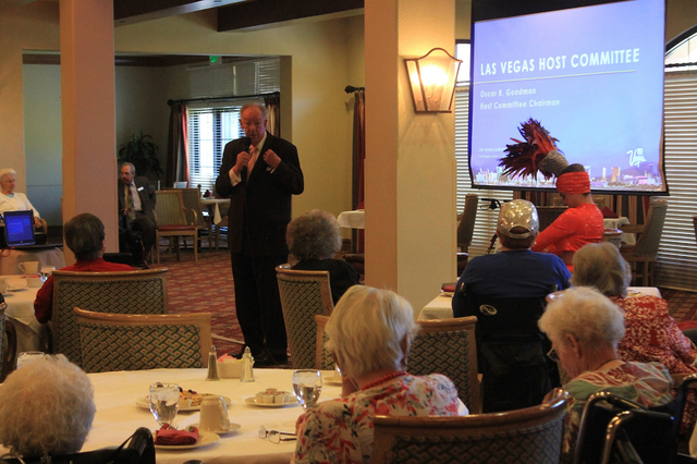 Oscar Goodman, former mayor of Las Vegas, speaks to residents at Las Ventanas at Summerlin, 10401 W. Charleston Blvd., as part of its 2016 Lecture and Event Series. Special to View
