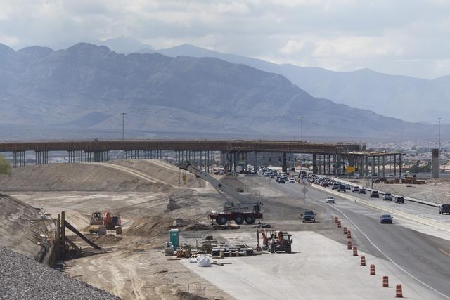 The overpass at Sky Pointe Drive which is part of the Centennial Bowl project is seen on Tuesday, April 12, 2016, in Las Vegas. (Erik Verduzco/Las Vegas Review-Journal) Follow @Erik_Verduzco