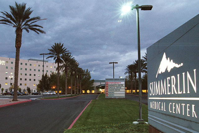 Summerlin Hospital and Medical Center. (Todd Lussier/View)