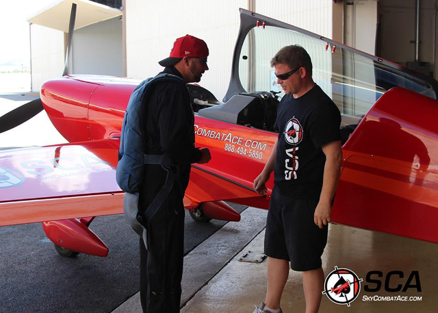 Sky Combat Ace instructor pilot Ben Soyars, 37, of Las Vegas, right, is shown with an unidentified person in an August 2015 post from his Facebook page. Soyars and Steve Peterson, 32, of Rohnert P ...