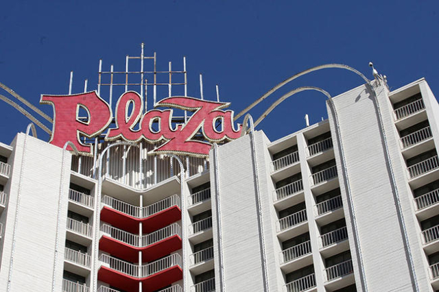 Plaza Hotel and Casino in downtown Las Vegas. Tuesday, May 27, 2014. (Michael Quine/Las Vegas Review-Journal)