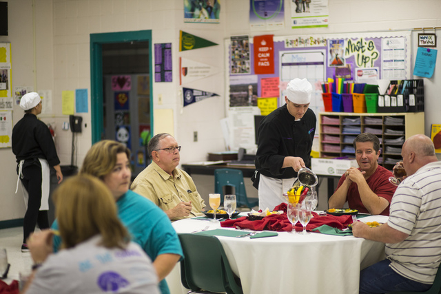 People dine while students serve lunch as part of the ProStart program at Silverado High School May 5, 2016. Chase Stevens/View