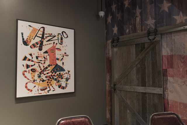 Art at the soon to be opened PT's Ranch at 6450 S. Durango Dr. in Las Vegas Thursday, May 19, 2016. The tavern, slated to open Thursday, May 26, 2016, will be the 50th launched by PT's Entertainme ...