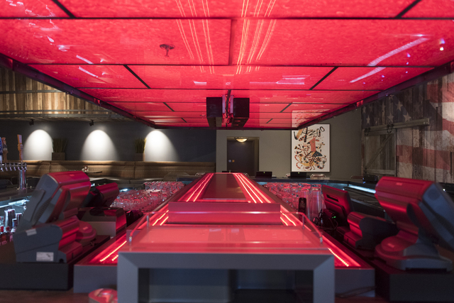 The bar area of the soon to be opened PT's Ranch at 6450 S. Durango Dr. in Las Vegas Thursday, May 19, 2016. The tavern, slated to open Thursday, May 26, 2016, will be the 50th launched by PT's En ...