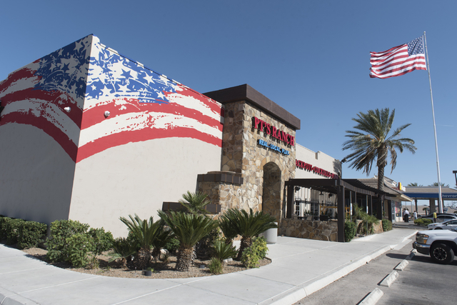 The soon to be opened PT's Ranch at 6450 S. Durango Dr. in Las Vegas is seen Thursday, May 19, 2016. The tavern, slated to open Thursday, May 26, 2016, will be the 50th launched by PT's Entertainm ...