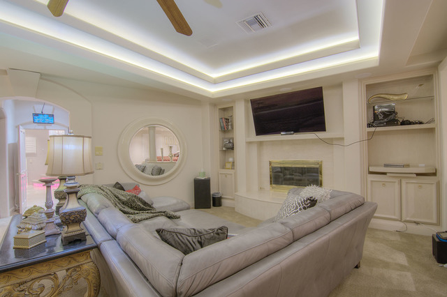 A TV room in the master suite. (Napoli Group)
