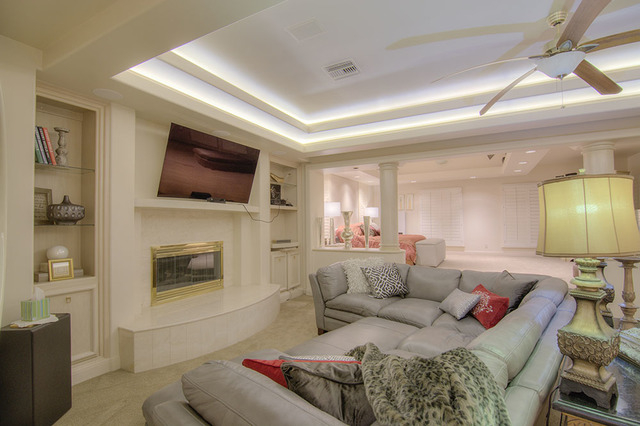 This room connects to the large master suite. (Napoli Group)