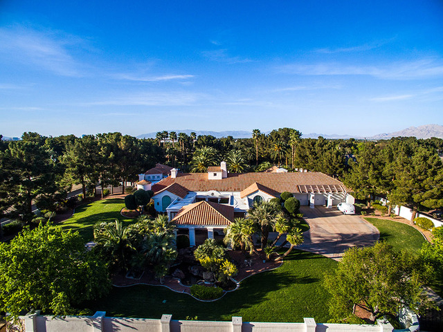 "Terry Fator, ""the voice of entertainment"" at The Mirage has placed his luxury mansion, 2-acre estate at 3290 E. Maule Ave. on the market for just under $2 million. (COURTESY OF NAPOLI GROUP)"