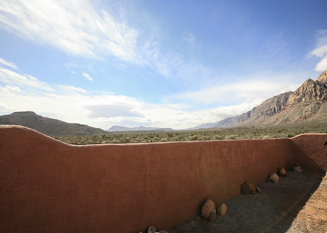 The Bonnie Springs home has views of the desert mountains. (ELKE COTE/MILLIONS)