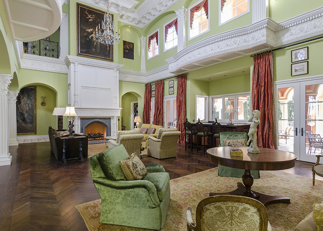 The great room of the home on Eagles Landing Lane. (Luxe Estates & Lifestyles)