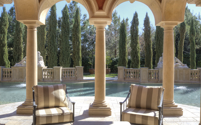 The patio at the Eagles Landing home. (Luxe Estates & Lifestyles)