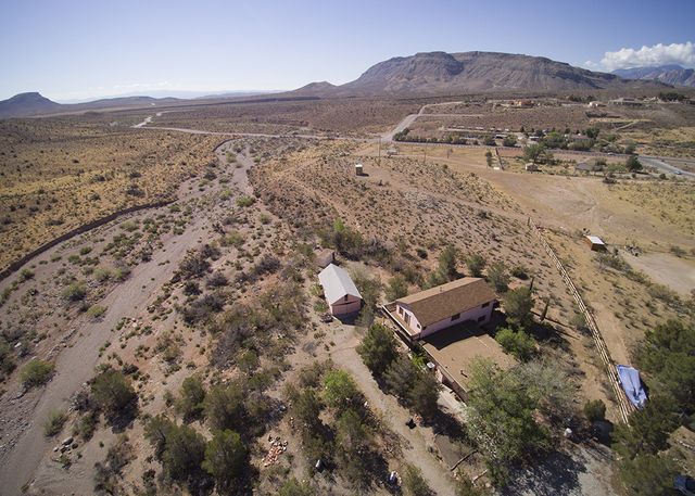 The Calico Basin home measures 3,371 square feet with three bedrooms and two full baths. It sits on 2.5 acres with views of Spring Mountain. (COURTESY OF SYNERGY, SOTHEBY'S INTERNATIONAL REALTY)