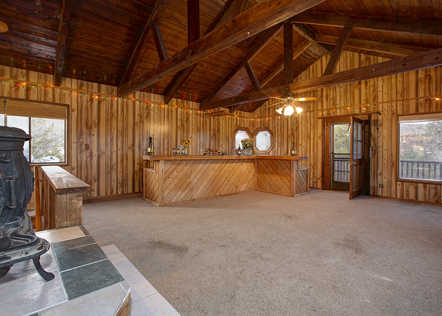 The Calico Basin home has a Wild West feel. (COURTESY OF SYNERGY, SOTHEBY'S INTERNATIONAL REALTY)