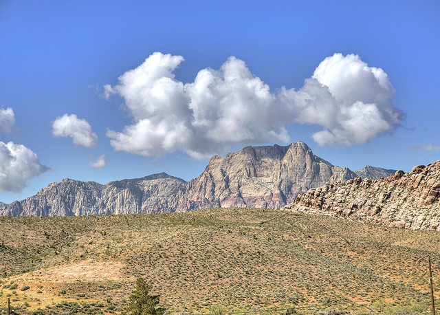 The Spring Mountains. (COURTESY OF SYNERGY, SOTHEBY'S INTERNATIONAL REALTY)
