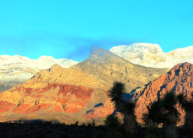 Nature's colors that appear across the Spring Mountains are always on display for those who make their homes in the Red Rock Canyon National Conservation Area. (COURTESY OF SYNERGY, SOTHEBY'S INTE ...