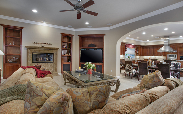 The family room at the home at 11856 Brigadoon Drive in Southern Highlands. (Synergy, Sotheby's International Realty)