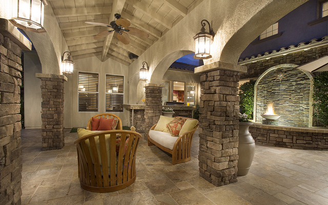 The patio at the home at 11856 Brigadoon Drive in Southern Highlands. (Synergy, Sotheby's International Realty)