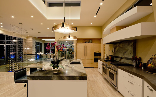 The home's kitchen has all the upgraded appliances. (Courtesy Sun West Custom Homes)