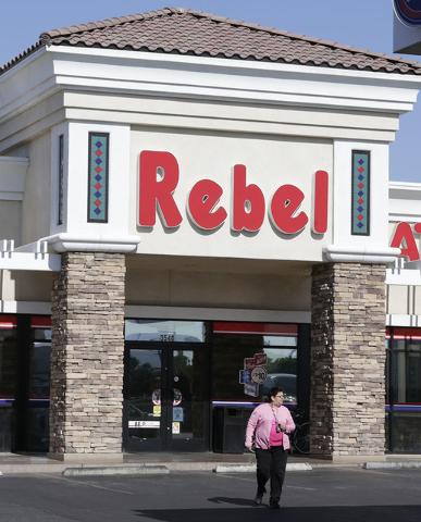 The Rebel gas station at 890 N Pecos Rd., is shown on Tuesday, May 24, 2016. (Bizuayehu Tesfaye/Las Vegas Review-Journal Follow @bizutesfaye)