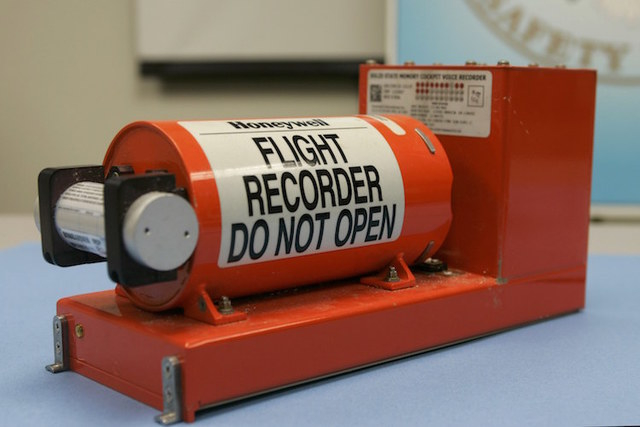 FIle photo shows the Cockpit Voice recorder from the crash of Continental Connection flight 3407 near Buffalo, New York that is displayed at the National Transportation Safety Board (NTSB) headqua ...