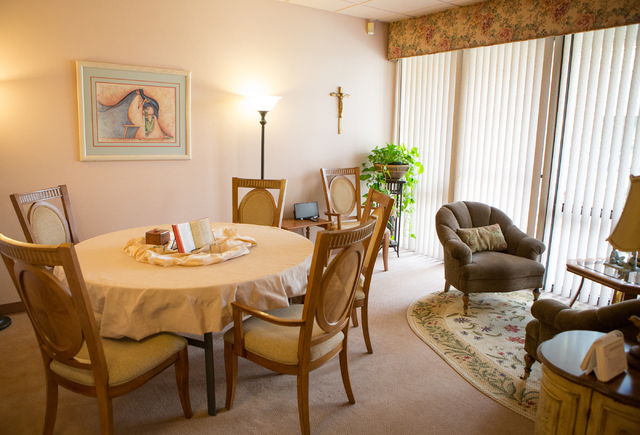"A view of the ""Garden Room"", used for discussions and meetings, is shown within the Stillpoint Center for Spiritual Development at 8072 W. Sahara Ave. in Las Vegas Saturday, May  ..."