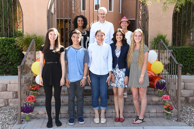 The Rogers Foundation held a private block party at its Downtown Las Vegas office awarding 31 Clark County School District high school seniors with almost half a million dollars in college scholar ...