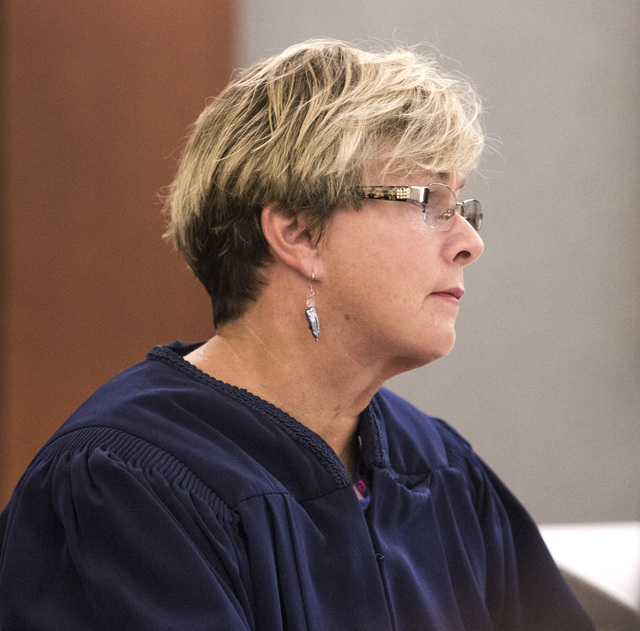 District Judge Jesse Walsh listens during a fraud hearing involving five former Club Paradise employees during court at Regional Justice Center on Monday, May 2, 2016. (Jeff Scheid/Las Vegas Revie ...