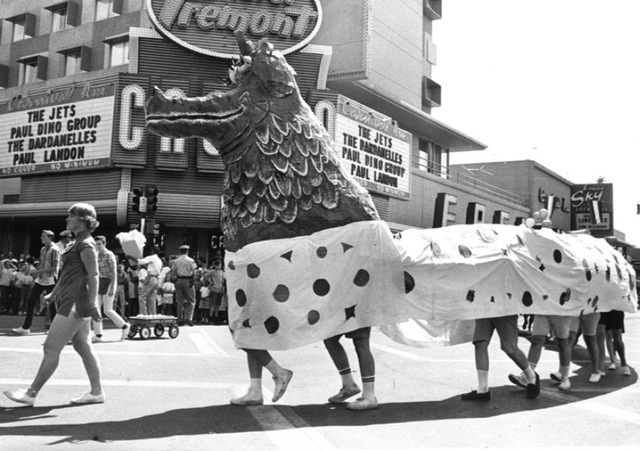 A float is presented during the Helldorado Days parade in downtown Las Vegas on May 23, 1964. (Terry Todd/Las Vegas Review-Journal)