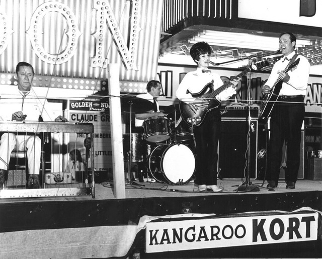 A band plays at Helldorado Days in downtown Las Vegas in 1968. (Review-Journal file)