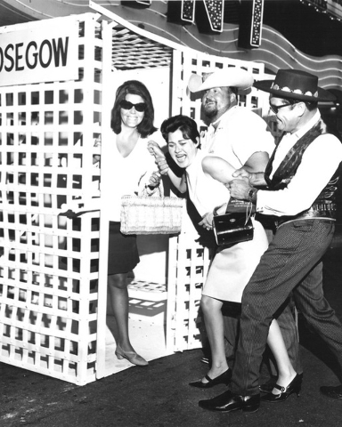 "A woman goes to the ""hoosegow"" during Helldorado Days in Las Vegas in 1968. (Review-Journal file)"