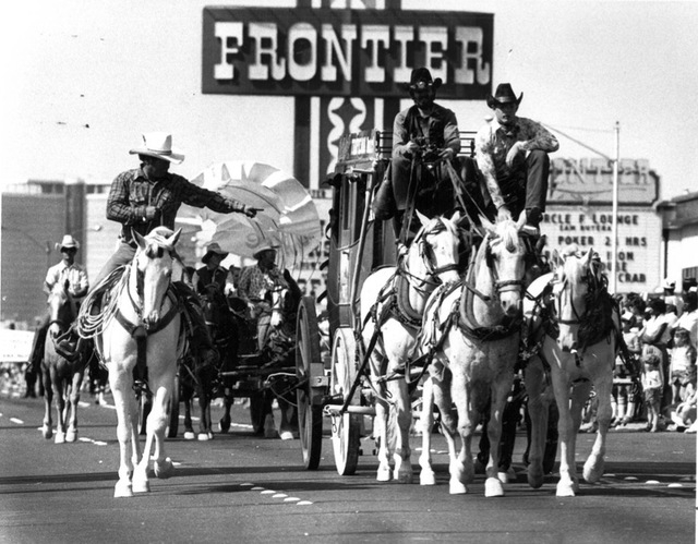 The Frontier backdrops the Helldorado Days parade in Las Vegas in 1981. (Review-Journal file)