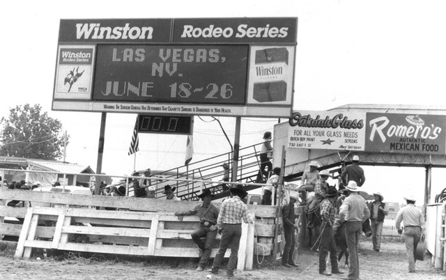 The Winston-sponsored rodeo events take off at Helldorado Days in Las Vegas in 1981. (Review-Journal file)
