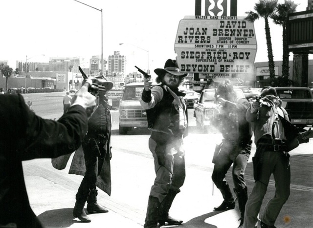 The Wild West show goes on for Helldorado Days at the Frontier Hotel in Las Vegas in 1982. (Lee Zaichick/Las Vegas Review-Journal)