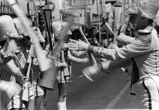 A band plays in the parade for Helldorado Days in downtown Las Vegas in 1975. (Review-Journal file)
