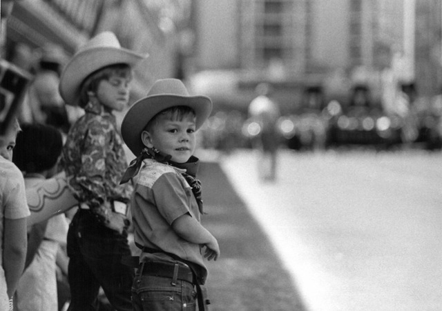 A boy looks on at the parade for Helldorado Days in downtown Las Vegas in 1975. (Review-Journal file)
