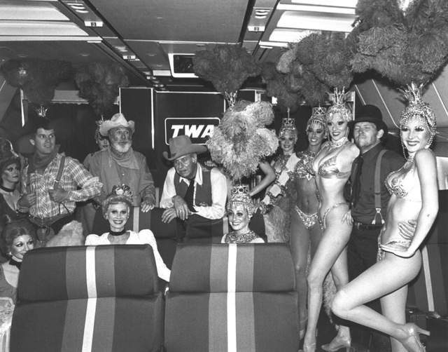 Showgirls join festivities for Helldorado Days in Las Vegas in 1976. (Review-Journal file)