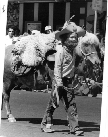 A child is seen in the Helldorado Days parade in Las Vegas in 1963. (Rene Germanier/Las Vegas Review-Journal)
