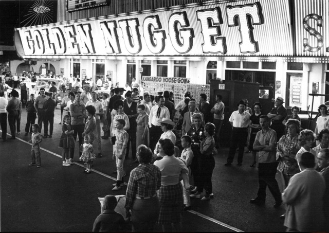 Golden Nugget is seen in downtown Las Vegas during Helldorado Days in 1963. (H.F. Herpolsheimer, Jr./Las Vegas Review-Journal)