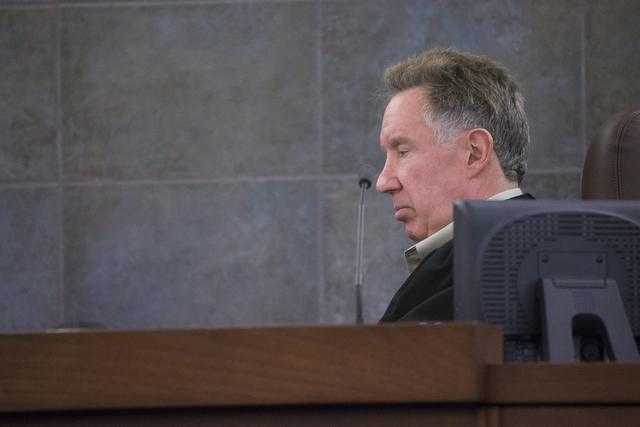 District judge Ronald Israel on Thursday, April 7, 2016, in Las Vegas. Erik Verduzco/Las Vegas Review-Journal Follow @Erik_Verduzco