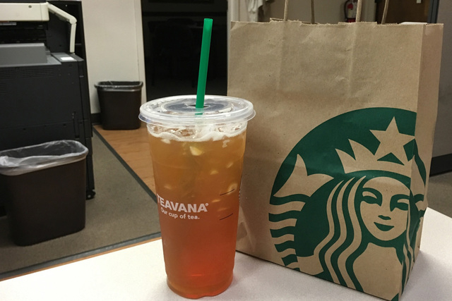 A woman filed a lawsuit last week in Chicago saying Starbucks puts too much ice in their drinks. (Ashley Casper/Las Vegas Review-Journal)
