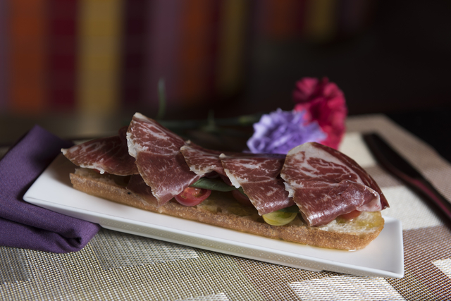 A pata negra is seen at Julian Serrano Tapas at the Aria hotel-casino in Las Vegas Wednesday, April 13, 2016. Jason Ogulnik/Las Vegas Review-Journal