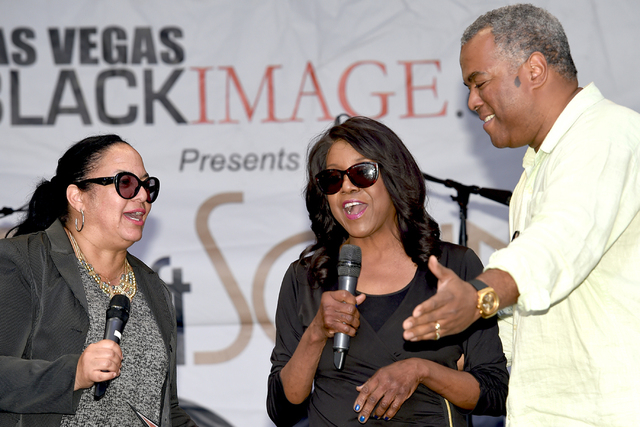 KTNV Channel 13 news anchor Rikki Cheese, middle, appears with Charles Tureaud and Kimberly Bailey Tureaud during the 15th Annual Taste and Sounds of Soul at Fremont Street Experience in February  ...