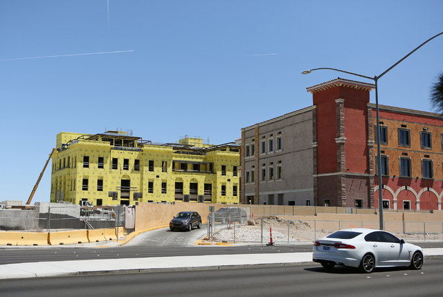 Construction continues at Tivoli Village Tuesday, May 3, 2016, in Las Vegas. The center's second phase is expected to open in October. Ronda Churchill/Las Vegas Review-Journal