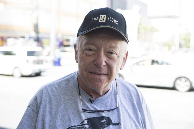 Victor Fragnito of Phoenix, Az., is interviewed near Fremont Street and Las Vegas Boulevard North on Friday, May 13, 2016, in Las Vegas. Erik Verduzco/Las Vegas Review-Journal Follow @Erik_Verduzco