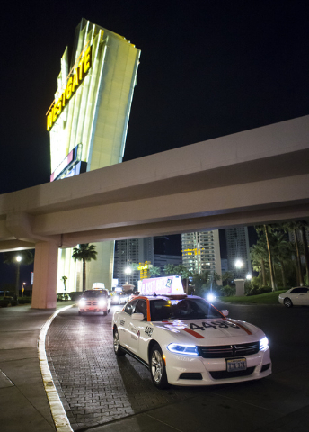 Desert Cab taxi driver Andrew Gnatovich lines up to pick up passengers at the Westgate hotel-casino in Las Vegas on Wednesday, May 4, 2016. Chase Stevens/View Follow @csstevensphoto